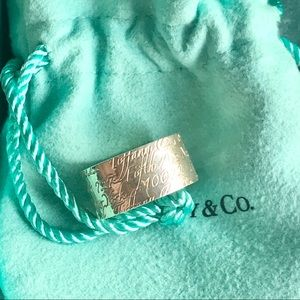 Tiffany & Co Wide Notes Ring Band 💯 % authentic!